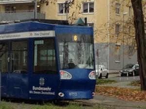 """Warum steht da """"6"""" drauf? Es gibt nur 5 Tramlinien in Braunschweig. Aufgenommen am Inselwall"""